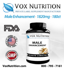 Male Enhancement 1820 mg Supplement, 180 count - Private Label Enhance Plus Male Enhancement Supplement
