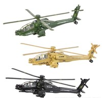"8"" DIECAST PULLBACK APACHE HELICOPTER"