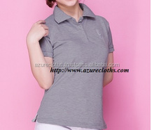women custom polo shirt with embroidered logo