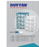Best Price/High quality/ Plastic 3-4-5 drawers A4 filing cabinet - DUY TAN PLASTICS VIETNAM