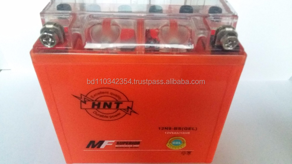 12N9-BS GEL MOTORCYCLE BATTERY TWO WHEELER BATTERY