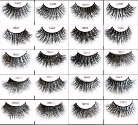 Whosale 3D Mink Fur Eyelash Individual Eyelashes Mink eyelash