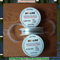 50M fluorocarbon fishing lines 100% best quality made in Germany 0.14-1.2mm clear