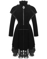 BKL Nightwish Hooded Dress Black Bodycon Long Sleeve Goth Occult Witchcraft