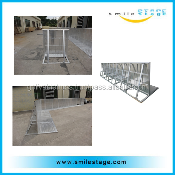 Aluminum Event Crowd Control Barrier Trolley