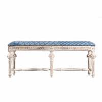 Indian Beautiful Antique Indigo Banch Upholstered Elegant Bench furniture