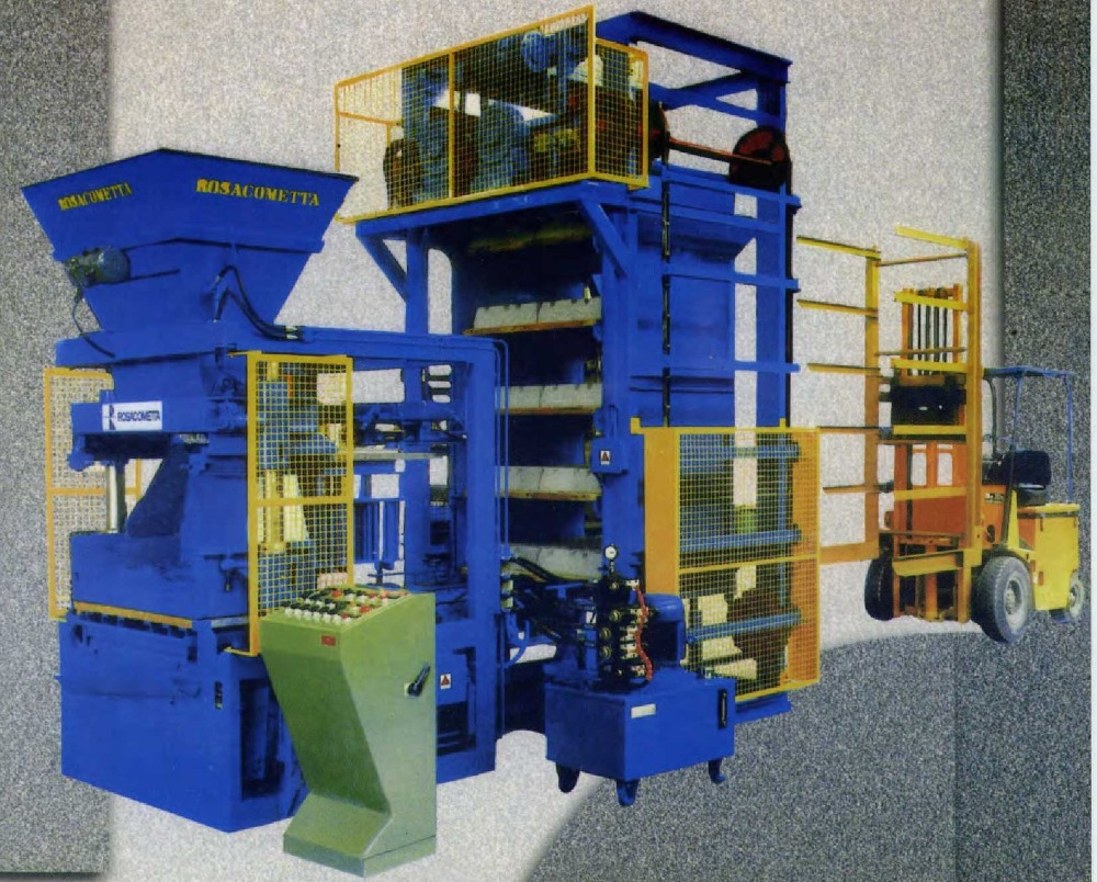 V.6 Super MADE IN ITALY SEMIAUTOMATIC CONCRETE BLOCK MAKING MACHINE