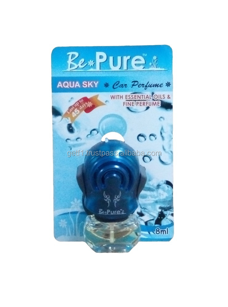 (BePure)Aqua Sky Aroma- 8ml Car Perfume, Car Hanging Air Freshener, Car Accessory, Car Care Products, Alibaba Malaysia