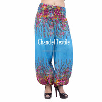 Sky Blue Alibaba Trouser Aladdin elastic pant Rayon gypsy yoga pant Harem Yoga Pants Trouser Baggy Gypsy Ginie for wholesale