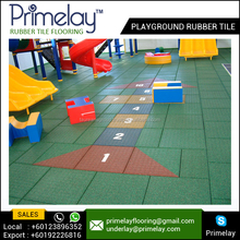 Safety Playground Outdoor Pathway Rubber Floor Tiles for Garden