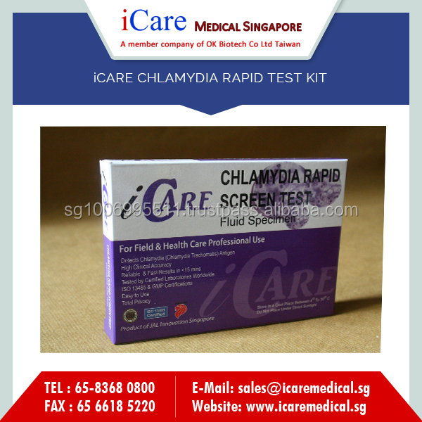 High Grade Super Selling iCARE Chlamydia Rapid Test Kits for Home Filed use