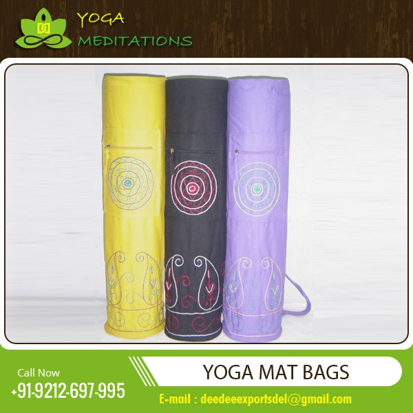 cotton yoga bag with emb.