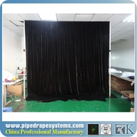 dye sublimation full color print event wedding aluminum backdrop stand pipe drape