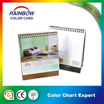 New Year Gift Desk Calendar With Color Card