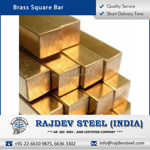 Top Grade Material Made Light Weight Brass Square Bar Available for Bulk Purchase