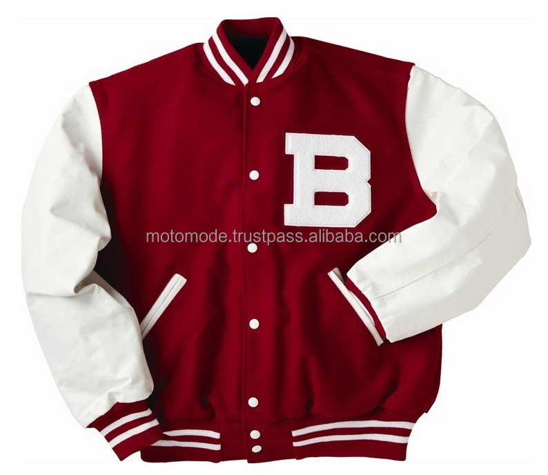 High Quality Best Selling Wool Made Big B Written Custom Blank Wholesale Letterman Varsity Jackets