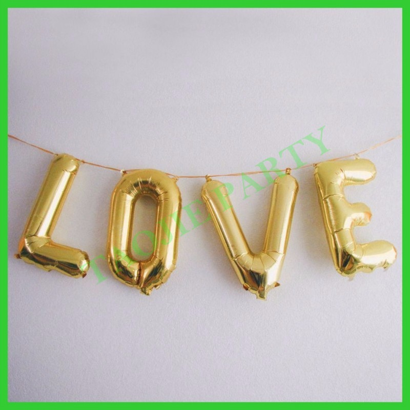 Foil Letter Balloons,Alphabet banner Balloons for party decoration