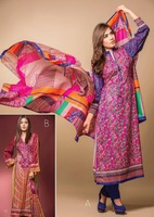 Three piece lawn salwar kameez suit 15 Batik lawn design no. 513/pakistan lawn suit/wholesale salwar kameez