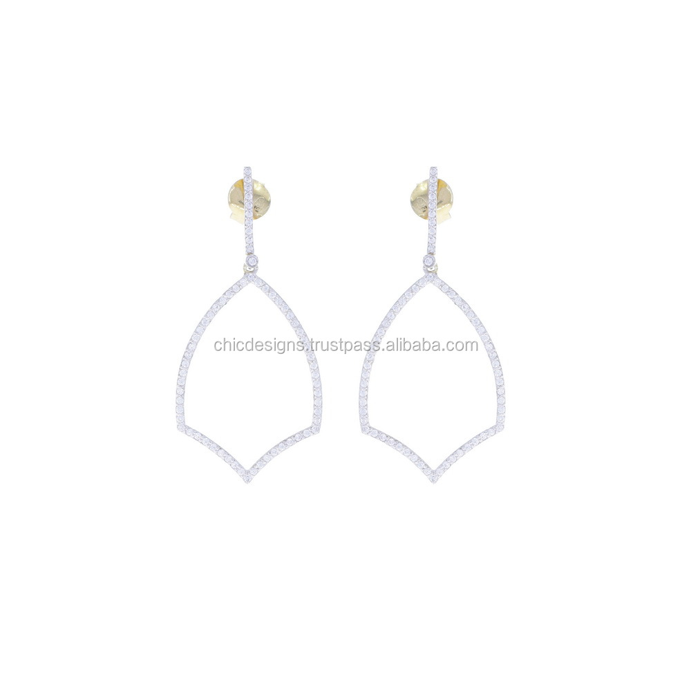 Jewelry Accessories And Components Manufacturer 14K Yellow Gold Fashionable Dangle Earrings
