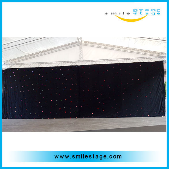 used portable led star curtain for wedding /big commercial