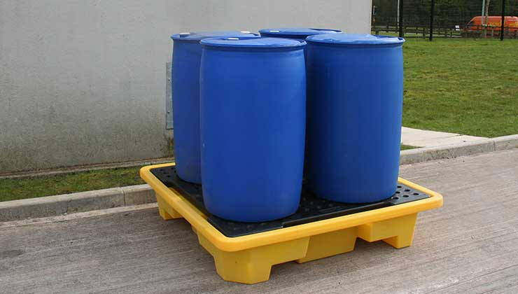 OIL SPILL PALLETS DOUBLE IBC PALLETS