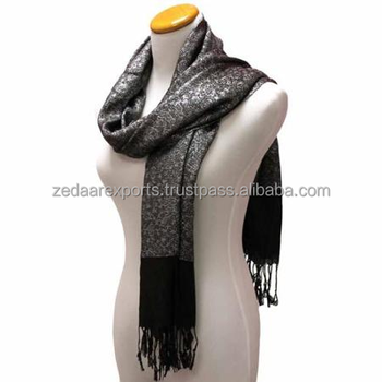 Black Metalic scarf