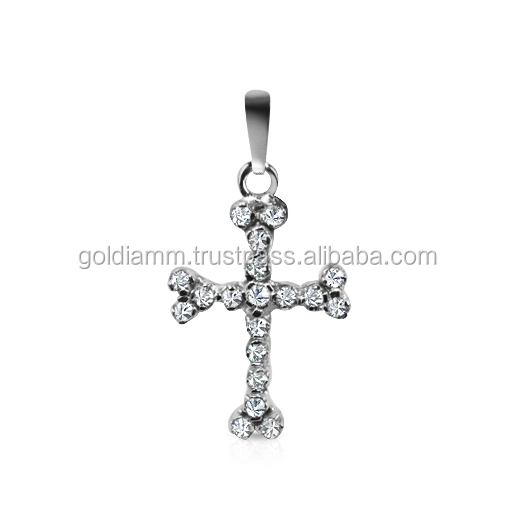 New Christian Jewelry Jesus Crucifix Necklace For Men Women Real Diamond And Gold 14K Cross Pendant & Necklace