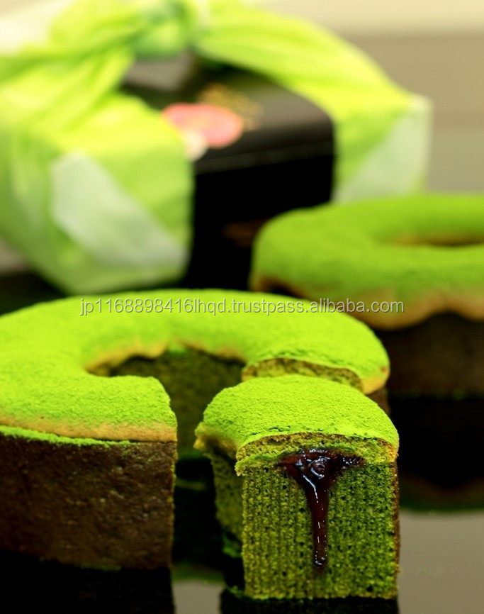Japanese very rich full sweet best ever green tea GREEN TEA CHOCOLATE BAUMKUCHEN for special occasion