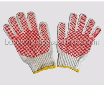 High quality Knitted Cotton Fabric Hand Gloves to Protect Labour