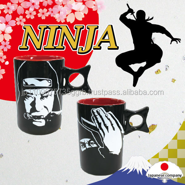 Japanese popular Ninja mug ceramic , various designs available