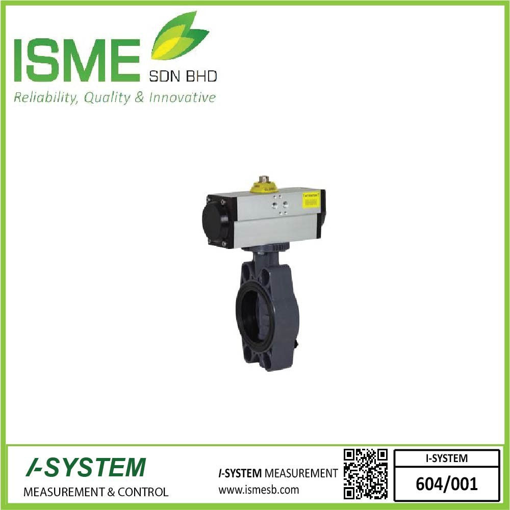 VPP FE-PVC, Pneumatically actuated butterfly valves, single / double acting