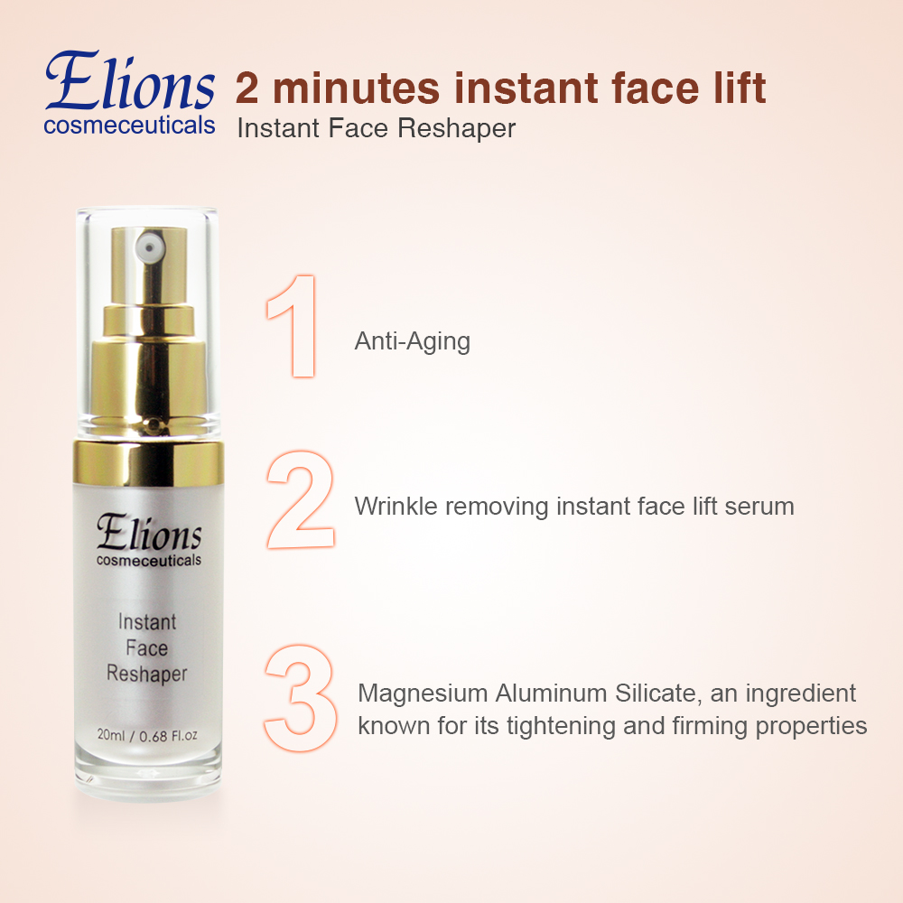 Instantly Ageless effect face lifting best skin care serum