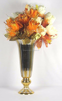MOST ELEGANT METAL GOLD ALUMINUM FLOWER VASE FOR HOME DECOR AND CENTER PIECE