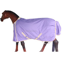 Turnout Rug in Lilac with Beige Binding
