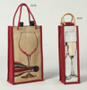 2016 eco friendly mini wine bottle bags/jute bags wine bottle bags