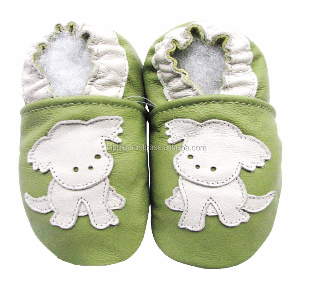 Dog style babies soft leather shoes baby leather booties
