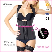 Wholesale Steel Boned Waist Trainer Vest Colombian Latex Girdles W0311A6