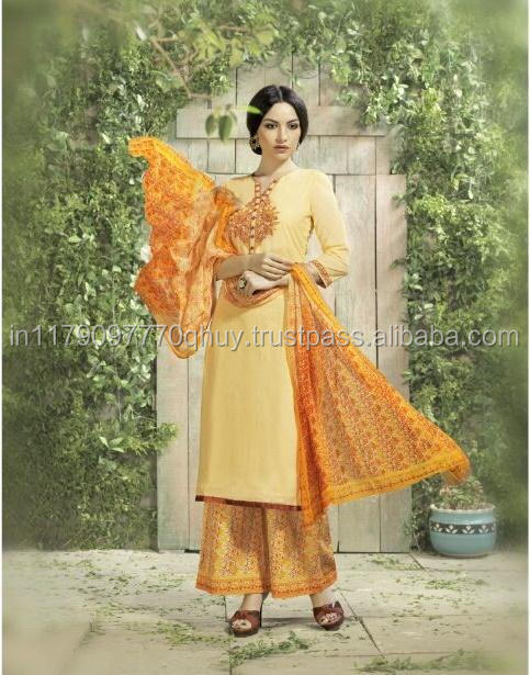 Shivam Cotton 7800 Series glace satin embroidery work salwar Kameez