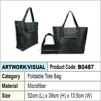 Microfiber foldable tote bag / foldable shopping bag