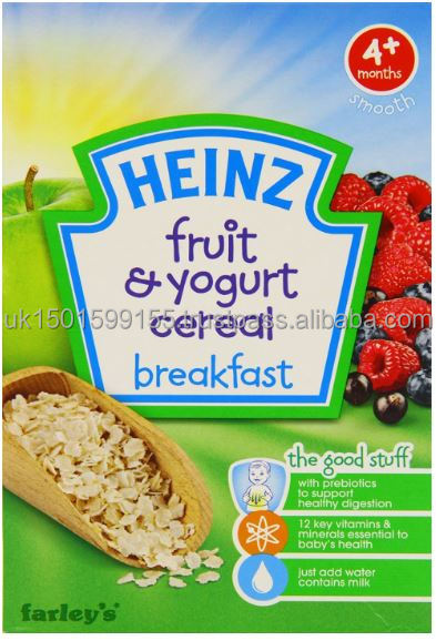 Heinz Fruit and Yogurt Cereal Breakfast 4 Months Plus 125 g (Pack of 6)