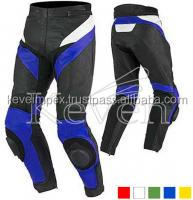 Motorcycle pant / Racing pant / Full safety Motorbike racing pant/ Genuine Leather pant / White red and black color pant