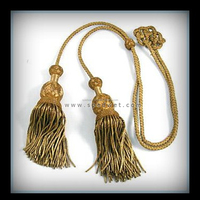 Bullion Wire Tassel With Gold Twisted