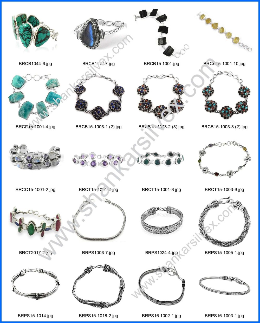 Glamorous fashion design multi gemstone bracelet 925 sterling silver jewelry handmade bracelets wholesale