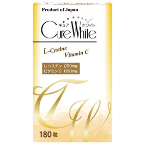 CURE WHITE Vitamin C And Lecithin Skin Whitening Tablets Made in Japan