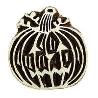 Pumpkin Handcarved Pottery Stamp Decorative Block Textile Printing Block Print PB2105A