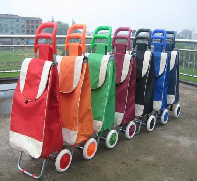 Foldable Two Wheels Shopping Trolley cart
