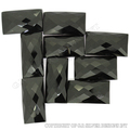 faceted black onyx gemstone, loose rectangle semi precious stones,wholesale suppilers usa