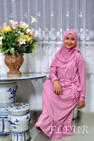 Islamic / Muslimah Ribbon Flare 2 Piece Dress with Jilbab/Tudong