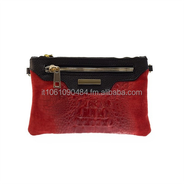 144 Handmade genuine leather Italian clutch