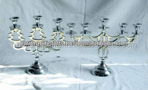 Silver Polished Multiholder Candle Stand